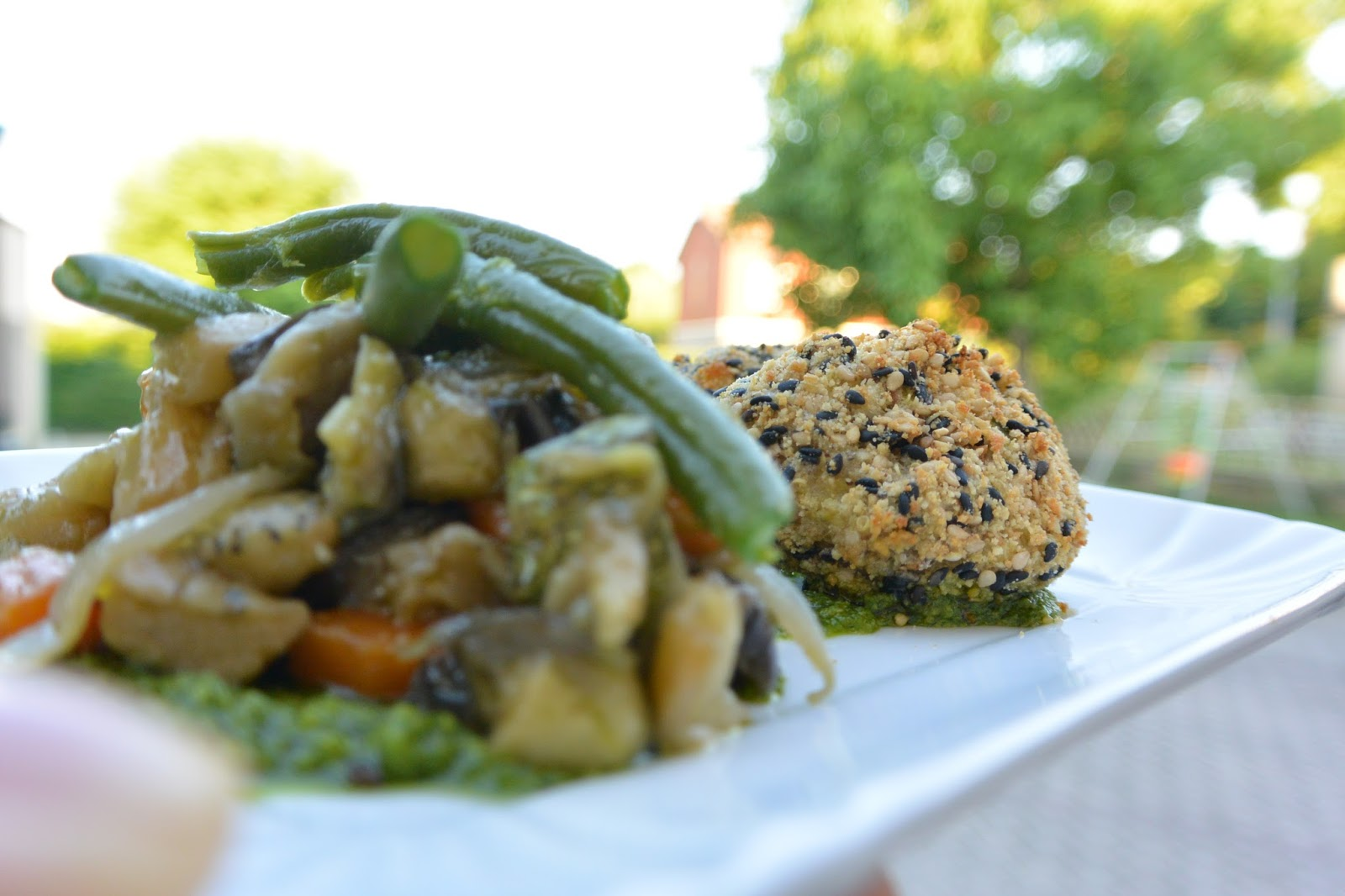 Quinoa Croquettes with warm salad and green sauce | Silvia Glutenfree ...